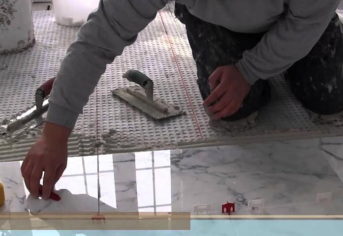 Укладка плитки из мрамора