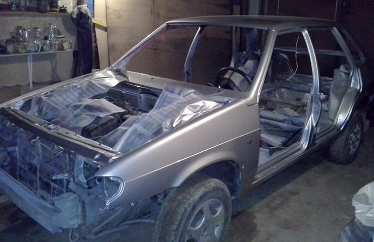 Окрашенный кузов на ВАЗ 2115