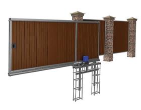 Сколько стоят откатные ворота с электроприводом?