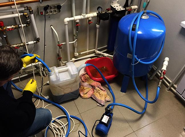 Прочистка системы отопления в частном доме специалистом