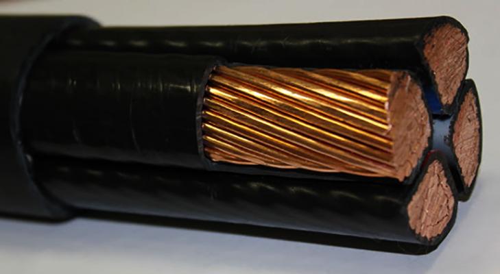 Силовой медный кабель