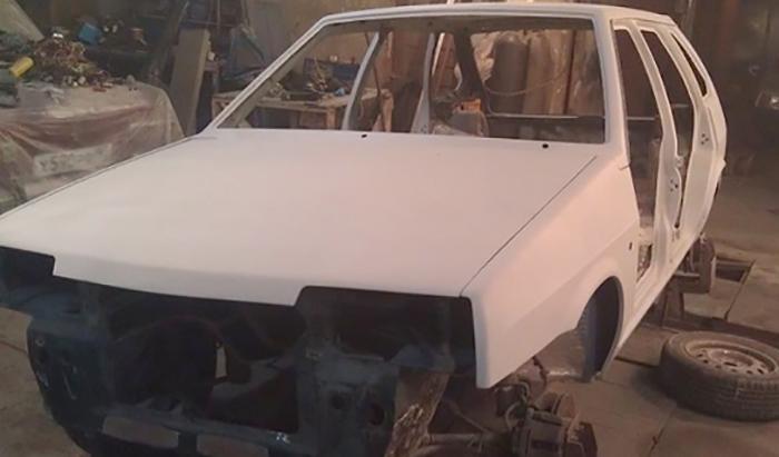Белый кузов на ВАЗ 2109