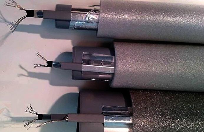Как выглядит греющий кабель для водопровода