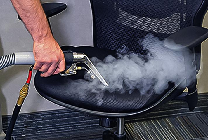 Чистка офисного кресле паром