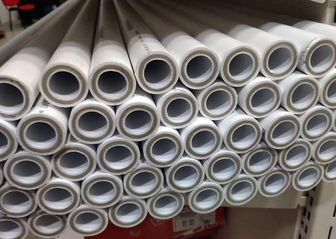 Полипропиленовые трубы на складе
