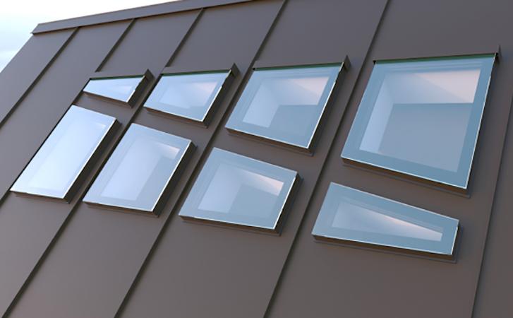 Мансардные окна Rehau RAL 7024