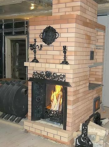 Печь-шведка в виде камина