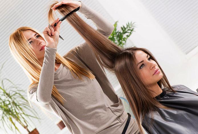 Процедура кератинового выпрямление волос