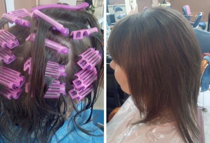 Проведение процедуры по прикорневому объем волос