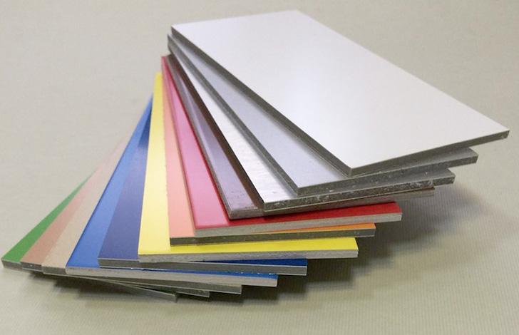 Алюминиевые композитные панели перед использованием