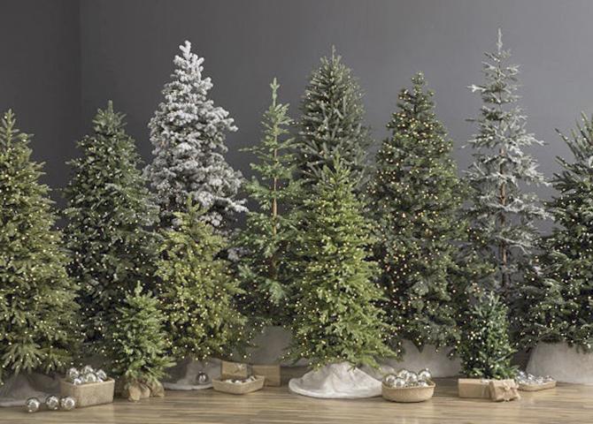 Разные искусственные елки