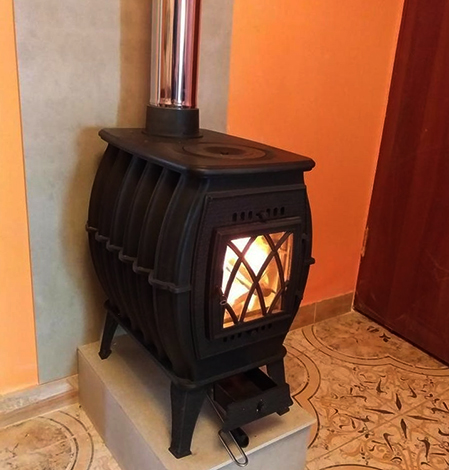 Печь-камин Бахта с варочной плитой