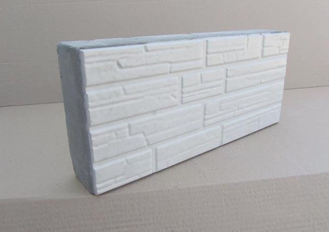Полистиролбетонный блок с облицовкой